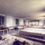 Beds in former children hospita