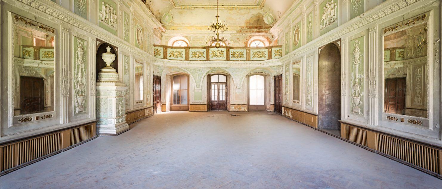 abandoned ballroom palace