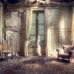 abandoned living room